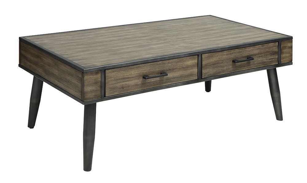 Loxton Mid Century Coffee Table In Grey